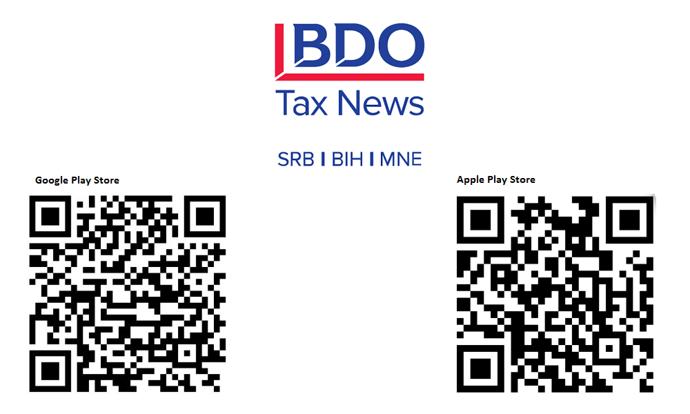 BDO Serbia Launches a Mobile Application for Tax News